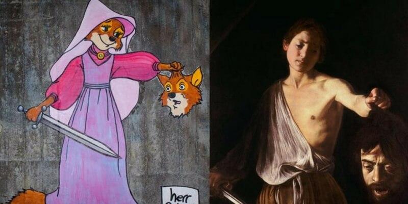 Herr Nilsson e la sua street-art ispirata a Caravaggio