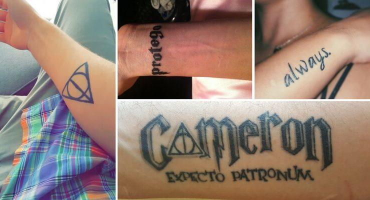 Le storie dietro i tatuaggi di alcuni fan di Harry Potter
