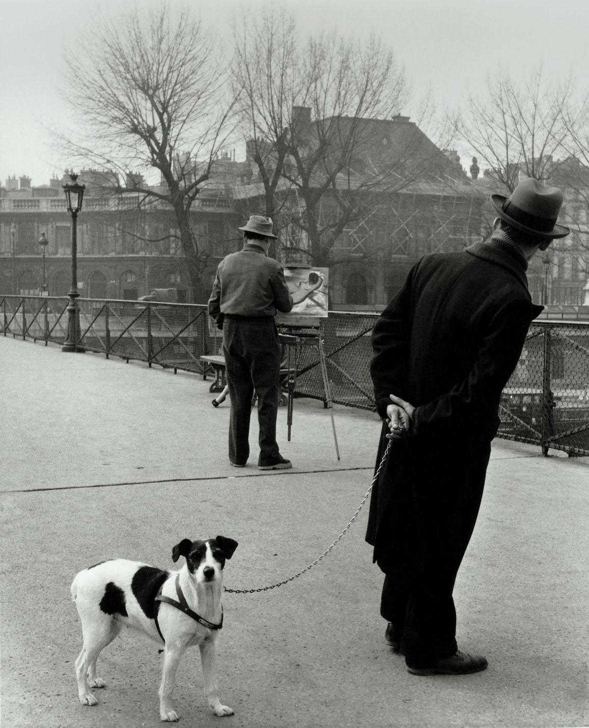 Robert Doisneau, Le chien du Pont des Arts, 1953 @ Atelier Robert Doisneau