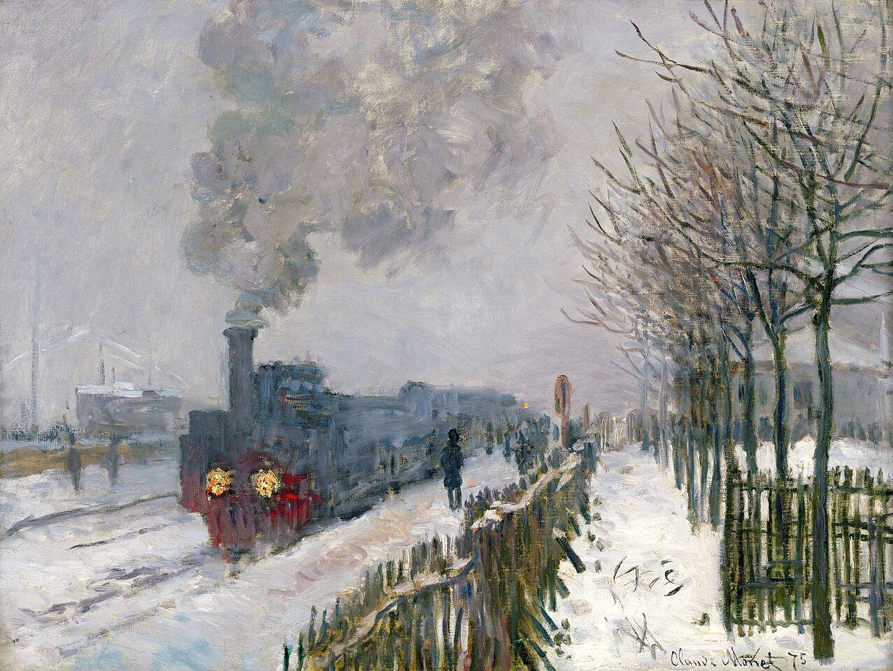 Claude Monet (1840-1926) Il treno nella neve. La locomotiva , 1875 Olio su tela, 59x78 cm Parigi, Musée Marmottan Monet © Musée Marmottan Monet, paris c Bridgeman-Giraudon / presse