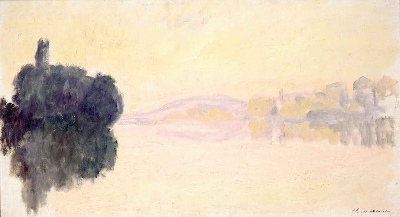 Claude Monet (1840-1926) La Senna a Port-Villez. Effetto rosa , 1894 Olio su tela, oppure 52,5x92,4 cm Parigi, Musée Marmottan Monet © Musée Marmottan Monet, paris c Bridgeman- Giraudon / presse