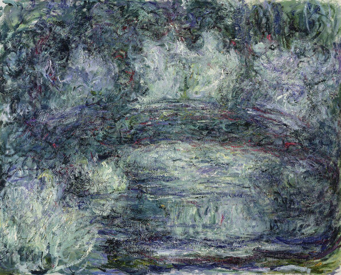 Claude Monet (1840-1926) Il ponte giapponese , 1918-1919 Olio su tela, 74x92 cm Parigi, Musée Marmottan Monet © Musée Marmottan Monet, paris c Bridgeman- Giraudon / presse