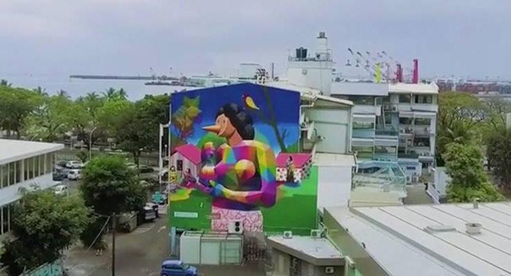A Tahiti l'omaggio del writer Okuda a Paul Gauguin