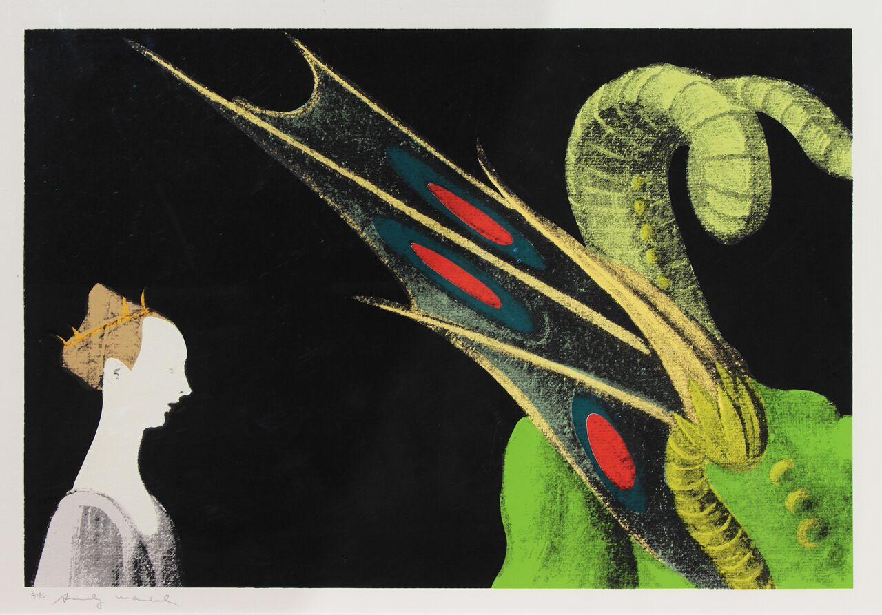 ANDY WARHOL, Detail of Renaissence (Paolo Uccello, San Giorgio e il Drago), 1984_preview