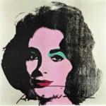 Andy Warhol. L'Arte di essere famosi | ANDY WARHOL Liz Taylor, 1971 Offset firmata, Edizioni Tate Gallery, Londra 21x21 cm Collezione Rosini Gutman_preview
