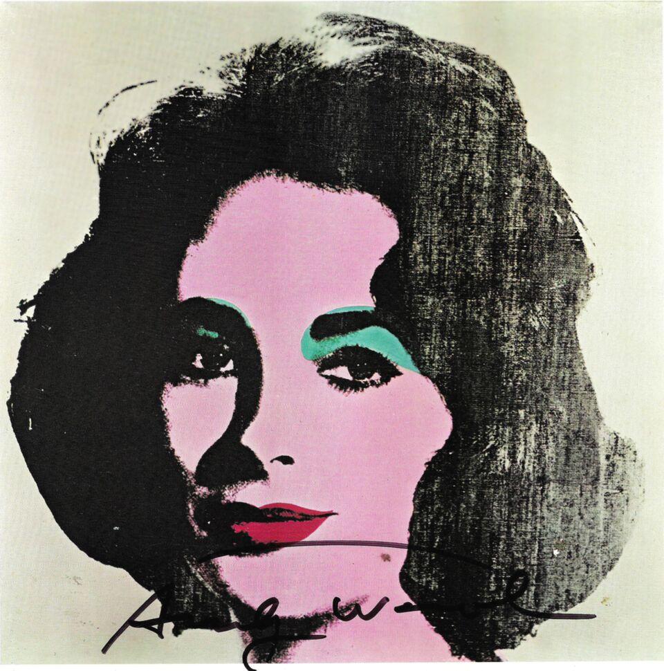 ANDY WARHOL Liz Taylor, 1971 Offset firmata, Edizioni Tate Gallery, Londra 21x21 cm Collezione Rosini Gutman_preview
