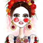 Illustrazioni dedicate a Frida Kahlo    © Laura Kay