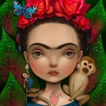 Illustrazioni dedicate a Frida Kahlo    © Lisa Falzon