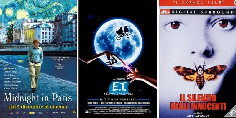 Le locandine dei film ispirate alle opere d'arte