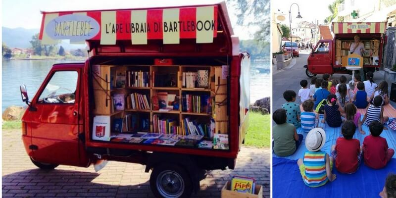 Arriva l'Ape Libraia per portare i libri dove non ci sono