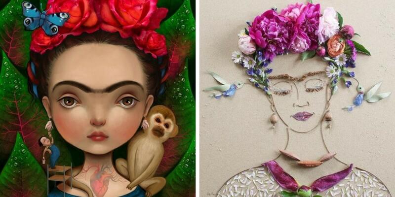 Le iconiche illustrazioni dedicate a Frida Kahlo