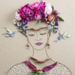 Illustrazioni dedicate a Frida Kahlo    © Vicki Rawlins