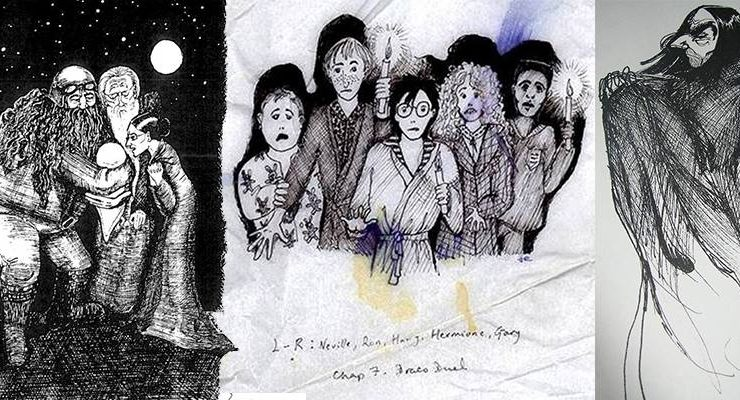 Le illustrazioni di Harry Potter create da J.K. Rowling