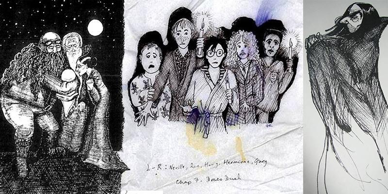 Le illustrazioni di Harry Potter create da J.K. Rowling