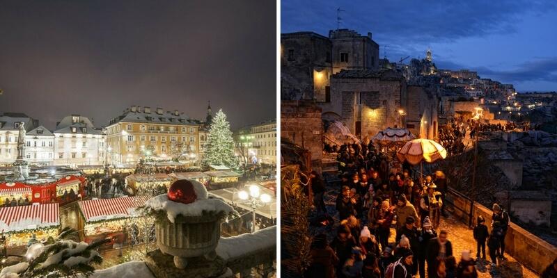 Le città italiane in cui meglio si vive l'atmosfera natalizia