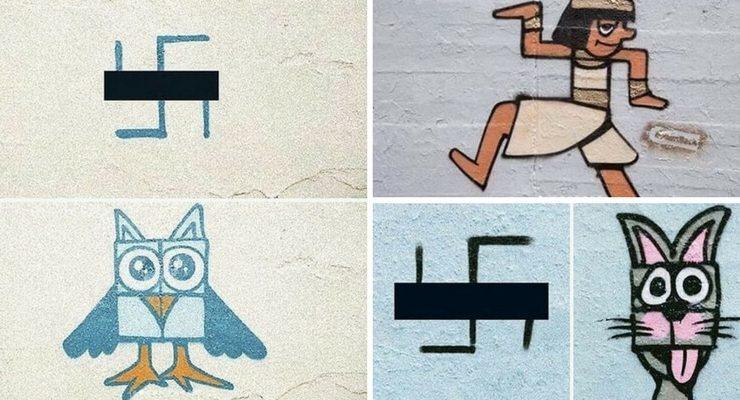 Gli artisti berlinesi che trasformano le svastiche in murales