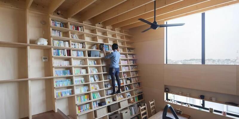 La libreria resistente al terremoto progettata da Shinsuke Fujii