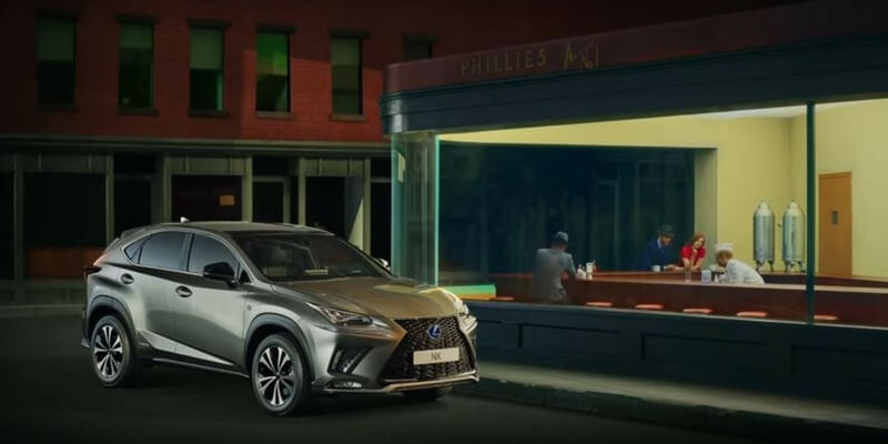 La Lexus celebra con uno spot la storia dell'arte