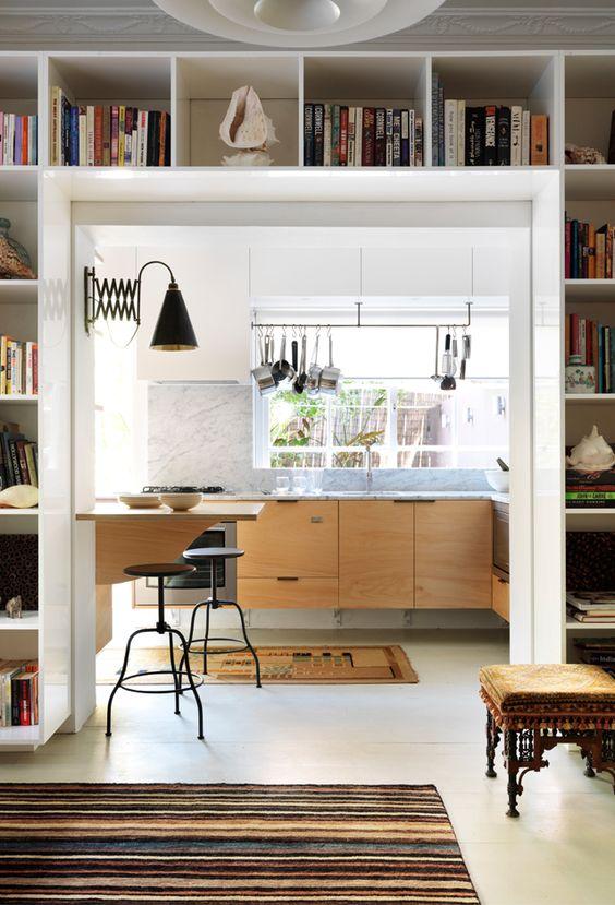 libreria soggiorno cucina