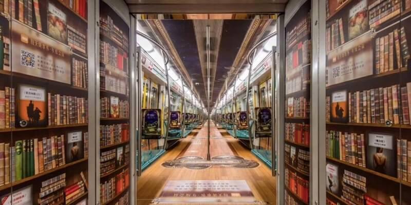 A Pechino una metropolitana di audiolibri