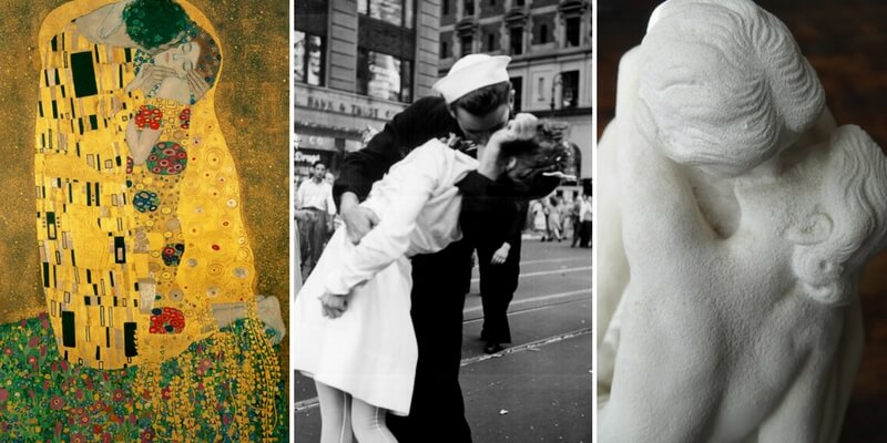 Dall'arte al cinema i baci più belli