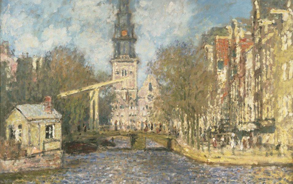 Claude Monet - La Zuiderkerk di Amsterdam ca. 1874