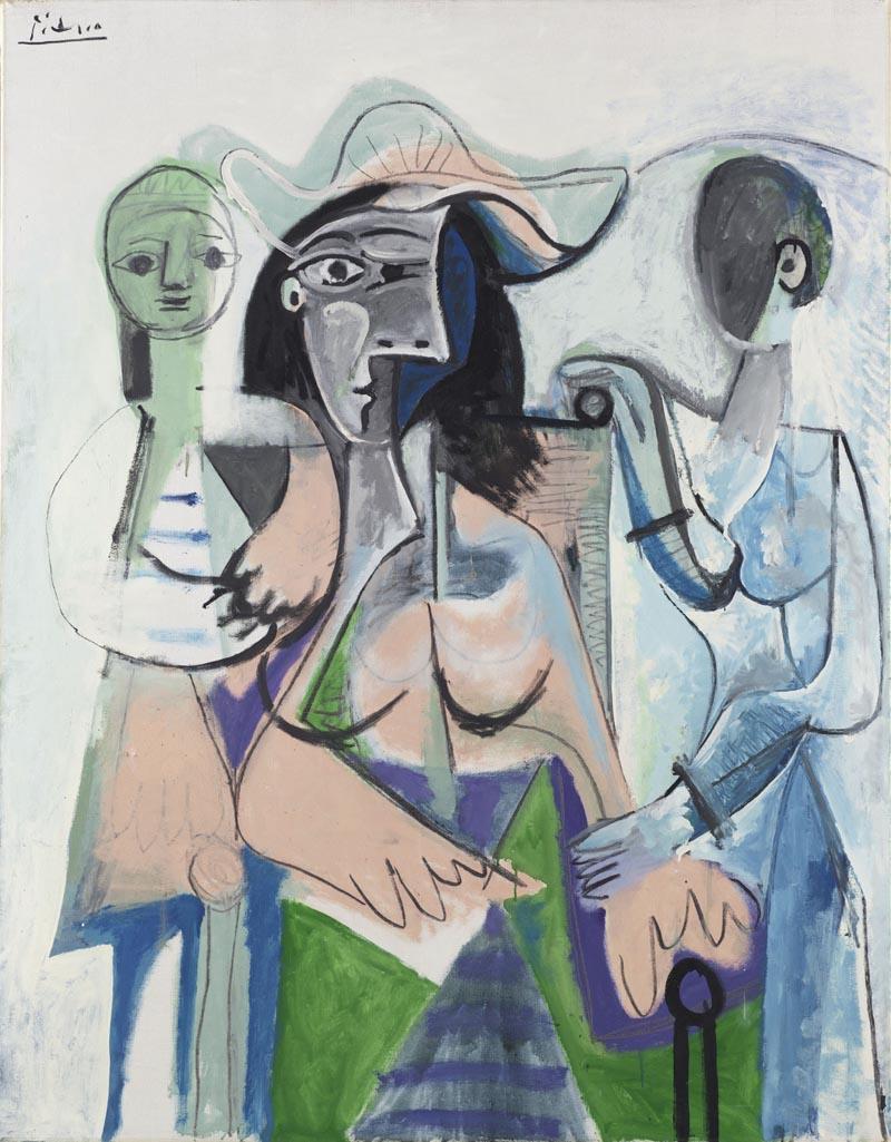 Pablo Picasso - Donna e bambine 1961