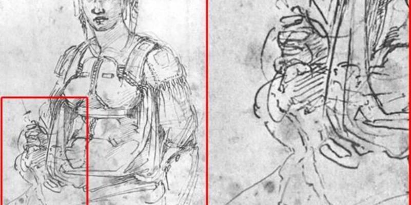Ritrovato sotto un disegno un autoritratto di Michelangelo