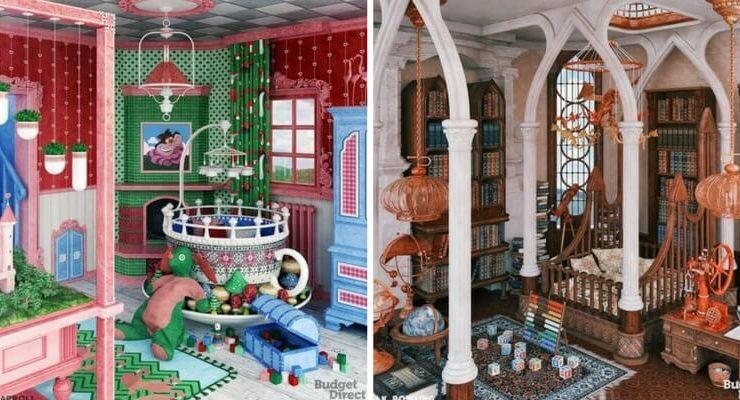 Le camerette per bambini ispirate al mondo dei libri