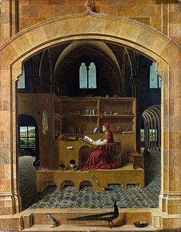 Antonello da Messina St Jerome in his study National Gallery London