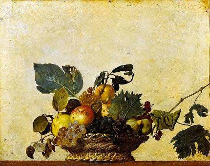 opere d'arte italiane - la canestra di frutta