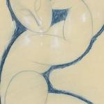 Modigliani Art Experience | Autore: Amedeo  Modigliani, Titolo:  Cariatide, Anno: 1913-15, Dimensioni: 64,6  x  49,9 cm, Tecnica:  matite di colore su  carta, Sede:  National  Gallery  of  Australia,  Canberra, BANCA  DATI  –ARCHIVIO Alinari. Tutti  i  diritti  riservati  ©  F.lli  Alinari  I.D.E.A.  S.p.A.