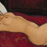 Modigliani Art Experience | Autore: Amedeo Modigliani, Titolo: Nudo disteso, Anno: 1917, Dimensioni: 60,6 x 92,7 cm, Tecnica: olio su tela, Sede: Metropolitan Museum of art, New York, Foto Scala, Firenze