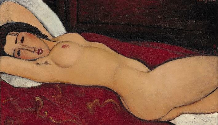 Autore: Amedeo Modigliani, Titolo: Nudo disteso, Anno: 1917, Dimensioni: 60,6 x 92,7 cm, Tecnica: olio su tela, Sede: Metropolitan Museum of art, New York, Foto Scala, Firenze