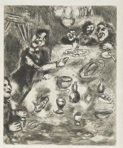 Il buffone e i pesci - Marc Chagall