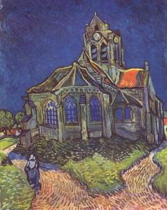 La chiesa di Auvers - Vincent van Gogh