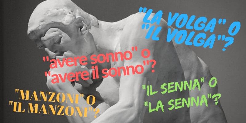 """Con o senza """"il""""? Il corretto uso dell'articolo nella lingua italiana"""
