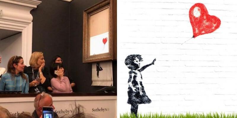 Distrugge la sua opera di Banksy da £40.000 per aumentarne il valore. Ora vale una sterlina