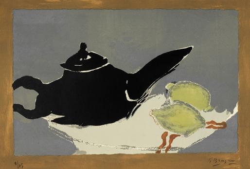 Théière et Citrons (1949) cm 50x65