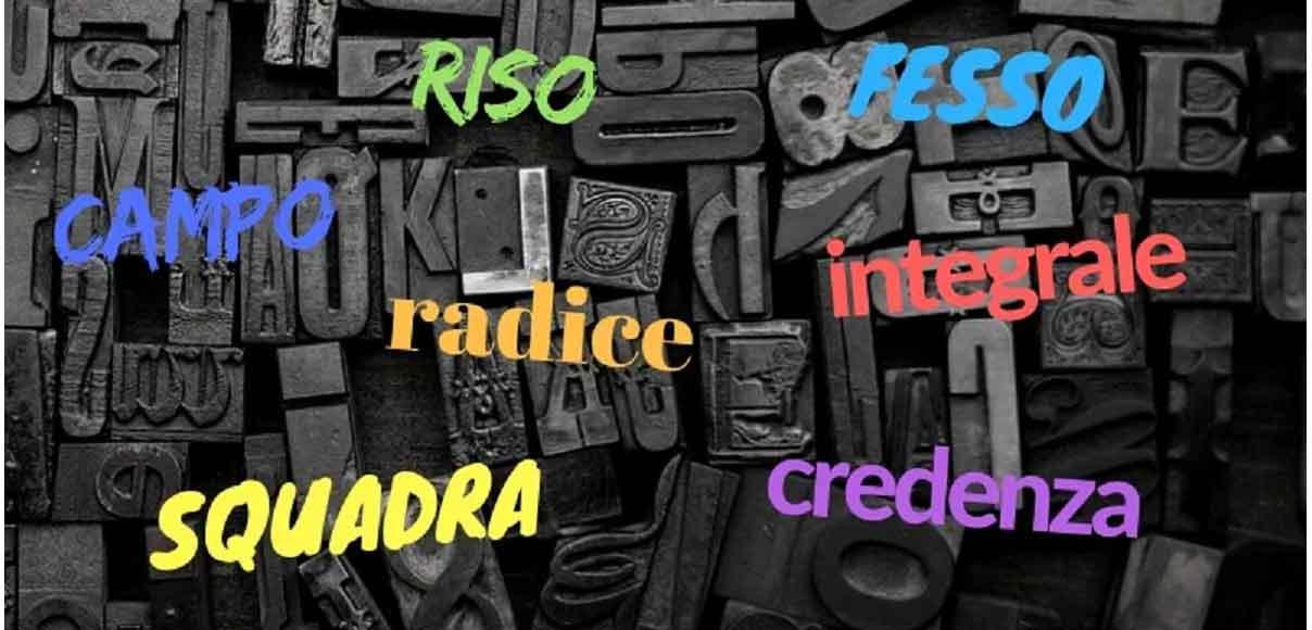 Le parole che in italiano hanno più significati