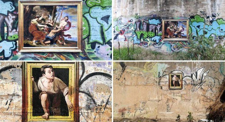 L'artista spagnolo che riproduce opere d'arte famose nei luoghi abbandonati