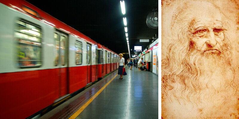 Milano, la metro di Cordusio cambia nome in omaggio a Leonardo da Vinci