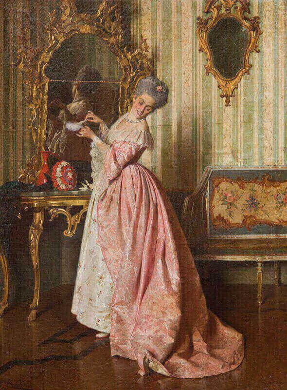 1. Giovanni Paolo Bedini La veste nuova olio su tela 50 x 37 cm collezione privata