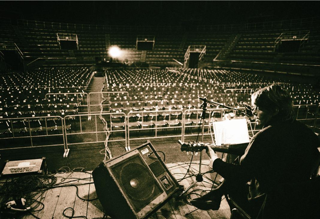 Palasport, Bologna, 1979. Tournée con PFM.