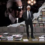 La geniale e immensa libreria di Karl Lagerfeld