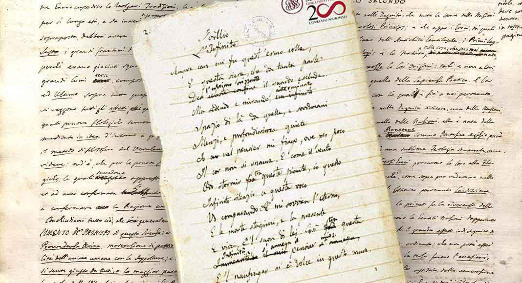 """La copia originale de """"L'Infinito"""" di Leopardi in mostra a Napoli"""