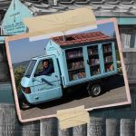 L'apecar che trasporta libri in ogni angolo della Lucania