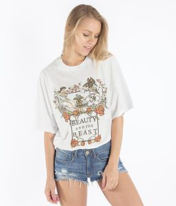 brunch t shirt donna oversize beauty beast
