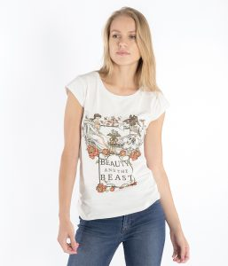brunch t shirt donna slim beauty beast