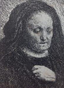 REMBRANDT MADRE DELL'ARTISTA 1629